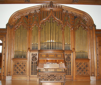 Berry Mansion Pipe Organ from the front