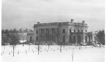 Governor's Mansion in the winter of 1943