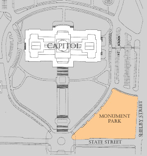 Area map of the Capitol Monument Park