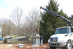 Installing the Kentucky Organ Donor Monument - Pic 1