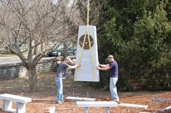 Installing the Kentucky Organ Donor Monument - Pic 2