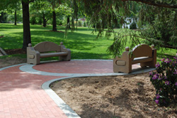 Benches installed at Capitol Monument Park