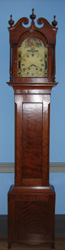 Tall case clock, circa 1800, from western Virginia or Kentucky.